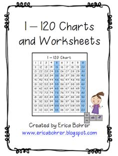 Erica Bohrer's First Grade: 120 Chart. Decades line up. Free printable.