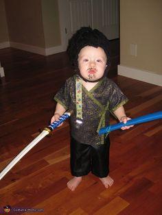 Samurai Baby - Homemade Halloween Costume