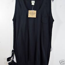 Womens ROUTE 66 V Neck Long Knit Top XL Sleeveless Belted Tunic Black in Clothing, Shoes & Accessories, Women's Clothing, Vests | eBay