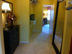 Master Walk in closet-- love the full length mirror