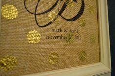 Personalized metallic polka dot monogram by andalittlebitofstuff