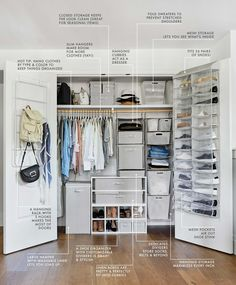 Genius Closet Organizing Ideas From Target's New Made by Design Line. Closet Organizing Tips. Target's new Made by Design line beautifully solves so many little life annoyances. Read on for closet organizer ideas and some super smart home pieces. Wardrobe Organisation, Organization Hacks, Organizing Ideas, Apartment Closet Organization, Small Bedroom Organization, Wardrobe Storage, Clothing Storage, Wardrobe Closet, Bedroom Closet Organizing