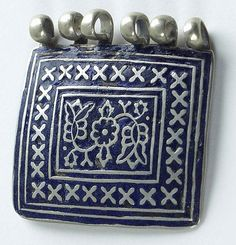 Afghanistan | Metal and enamel pendant