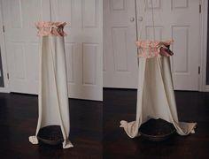 Newborn floral canopy, newborn prop, canopy, floral, photography prop, newborn prop. $28.00, via Etsy.