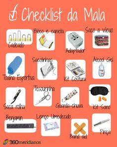Checklist para mala: o que não pode faltar