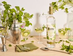 This Ketel One cucumber-mint cooler recipe is as refreshing as a cocktail can get. We love the addition of spicy ginger and tart lim. Peach Sangria Recipes, White Peach Sangria, Vodka Recipes, Mint Recipes, Cucumber Recipes, Herb Recipes, Party Recipes, Vodka Drinks, Beverages