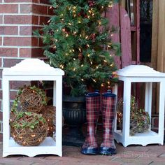DIY Outdoor Lanterns & A Behr Paint Giveaway! - All Things Heart and Home