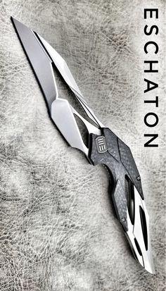 WE Knives 719B Eschaton Isham Flipper Carbon Fiber Titanium Stonewashed M390