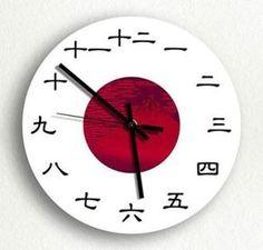 horas em japonês..