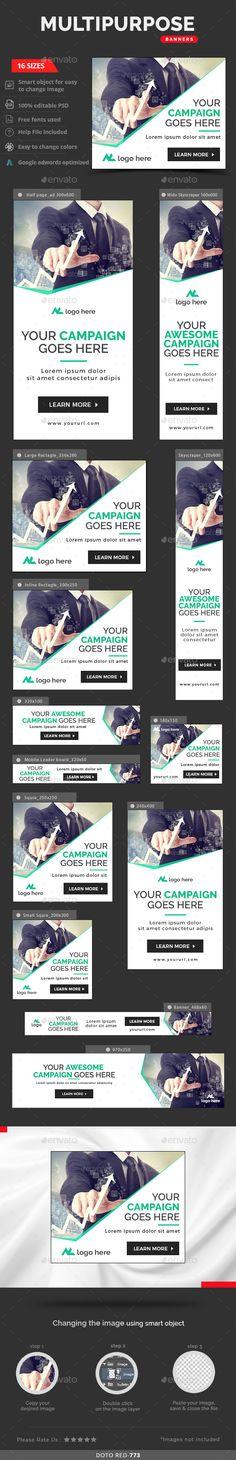Multipurpose Banners Template #design #ads Download: http://graphicriver.net/item/multipurpose-banners/13325446?ref=ksioks