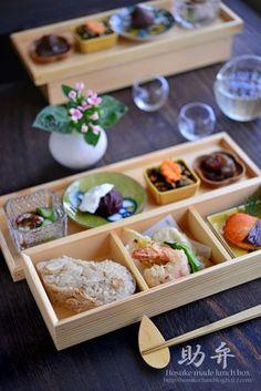 松茸ごはんの松華堂 - Matsutake Mushroom Rice Bento. Sushi Recipes, Fruit Recipes, Gourmet Recipes, Bento Box Lunch For Adults, Plate Lunch, Miniature Food, International Recipes, Food Presentation, Food Design