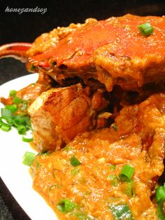 If you ever visit Singapore, you've got to go out at night and get chili crabs. before I can make it over there (again), I am making this at home