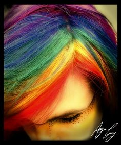 This dyed hair is awesome