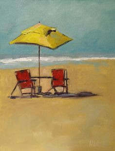 Can't you just feel the breeze in this painting?  Beachy Keen by Barbara Andolsek