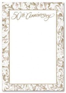 Free Printable 50th Wedding Anniversary Invitations - The Wedding SpecialistsThe Wedding Specialists