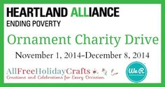 Heartland Alliance Handmade Ornament Drive