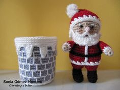 Thread It Hot: PAPA NOEL.  Free pattern not in English (challenging translation)