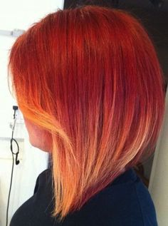 short layered red ombre hair | What Are The Best Short Hair Colors for 2015? Pictures