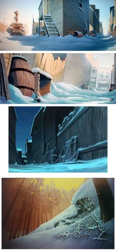 Balto concept arts. God I loved that movie when I was little... Ought to watch it again :D