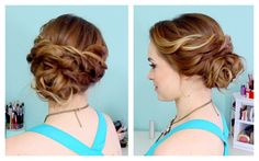 Quick Side Updo for Prom! (or Weddings! :D) (+playlist)