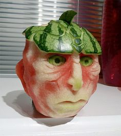 Watermelon ArtWatermelon Carving / Watermelon Pins Like This At FOSTERGINGER @ Pinterest✋