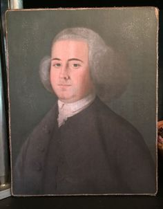 """Primitive Colonial Alexander HamiltonPatriotic Print on Canvas Board 8x10/"""""""