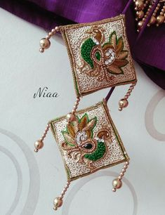 Saree Tassels Designs, Saree Kuchu Designs, Bridal Blouse Designs, Aari Embroidery, Hand Embroidery Designs, Maggam Work Designs, Peacock Design, Fabric Jewelry, Working Hard