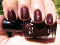 Zoya Nail Polish in Anastasia, ZP 383. A gilded oxblood beauty. http://www.artofbeauty.com/content/38/category/Oxblood_Red_nail_polish.html?O=BL120926TH5000oxblood