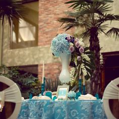 Precious Turquoise - an eclectic wedding collection, combining antique… Eclectic Wedding, Wedding Decorations, Table Decorations, Candelabra, Event Design, Wedding Designs, Hand Painted, Turquoise, Luxury