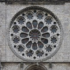 Western rose window of Chartres cathedral