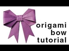 Origami - How to fold a paper Bow/Ribbon - YouTube