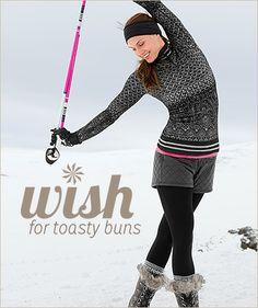 Toasty buns shorts! Love Athleta fashion #athleta #sportfashion #winterfashion