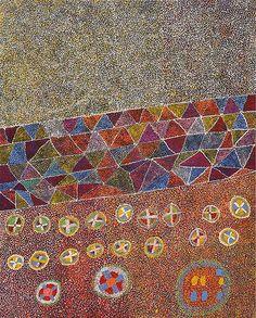 Patju Presley (born 1940), Kamandi, acrylic on canvas, 215. x 168 cm. Irrunytju Art Centre.