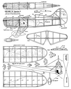 GEE-BEE-D-Sporter-X Rc Plane Plans, Rc Glider, Plane Design, Mustang, Aircraft Design, Paper Plane, Shop Plans, Model Airplanes, Paper Models