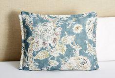 One Kings Lane - Joie de Vivre - Floral Shams, Blue