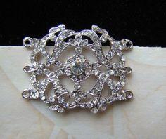 Vintage Crystal ORNAMENT for DIY Bridal Bracelet by rosebankgarden, $8.99