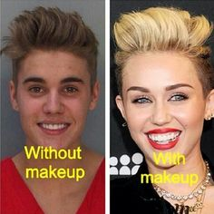 Justin Bieber Looks Like Miley Cyrus In His Mugshot - NoWayGirl
