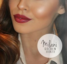 "Milani Golden bronzer, gives you a perfect ""brown"" glow, no orange!"