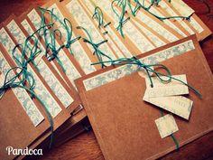 Convite Casamento Craft - Pandoca Design e Acessórios