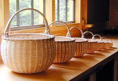 Nesting Set of Seven Swing Handle Baskets - by Stephen Zeh, Maine basket maker