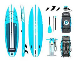 iROCKER CRUISER 10'6″ x 33″ Aqua Wide Inflatable SUP Package