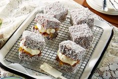 Lamingtons with an orange twist make this recipe a dream for anyone who is a fan of the Jaffa, or just that chocolate, orange flavour combination. Healthy Eating Tips, Healthy Nutrition, Australian Food, Australian Recipes, Coconut Icing, Orange Twist, Chocolate Coating, Vegetable Drinks, Tray Bakes