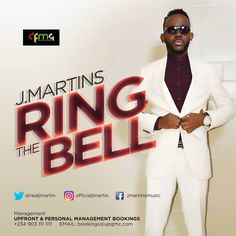 "International superstar singer & Veteran hit-maker J.Martins starts the new year 2017 with a monstrous hit dance single ""Ring The Bell"". Latest Music, New Music, New Year 2017, Audio Music, Discount Jewelry, Superstar, How To Find Out, Music Videos, Singer"