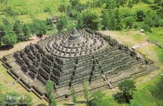 """Borobudur  a gigantic structure built with nearly 2 million cubic feet of stones ☆☆☆(^.^) Thanks, Pinterest Pinners, for stopping by, viewing, re-pinning, & following my boards. Have a beautiful day! and """"Feel free to share on Pinterest..^..^  #MayaHieroglyphs  #nature #didyouknow  ❤❦♪♫ #Mysterious"""
