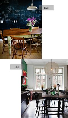 Love these dining rooms!
