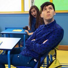 Amazingphil YouTube Rewind 2014 >>> don't forget about Dodie (doddleoddle) in the background!