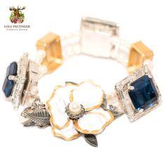 "Lola Paltinger Armband ""Blauer Alpenflower"" https://www.almresi.de/lola-paltinger/armbaender/lola-paltinger--armband-blauer-alpenfllower.php"