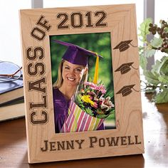 Cute personalized grad frame! Great graduation gift idea for grads to give their fellow grads, too! They're on sale now for only $18.70 at PMall! #Graduation #GradGift #GradPhoto