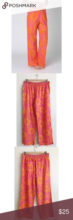 "Anthropologie Lilka Lounge Pants Size Medium CUTE Anthropologie Lilka Lounge Pants. Size Medium. Excellent Used Condition. 99% Cotton. 1% Lurex. Machine Wash, Lay Flat to Dry. Waist: 16"". Length: 29"". Inseam: 20"" Anthropologie Intimates & Sleepwear Pajamas"