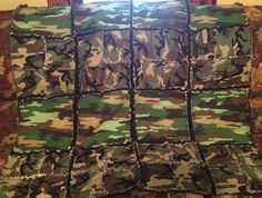 Camo rag quilt. Made for my youngest boy:)
